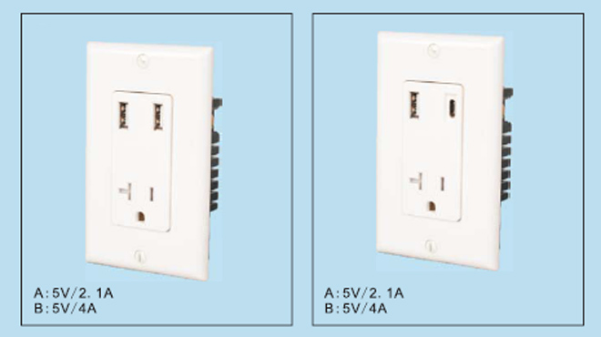USB Wall Outlet Charger