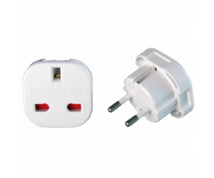 10A/16A 240V 4.0/4.8mm UK To Europe Plug Adapter SE-9625