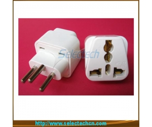 10A 250V 4.0mm Universal to swiss plug converter with ground pin SE-UA11A