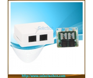2 ports RJ45 Wall Mount Box with IDC Cat5e