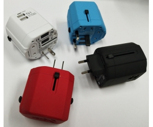 All in one multi plug socket travel power adapter universal tablet mobile charger USB travel charger