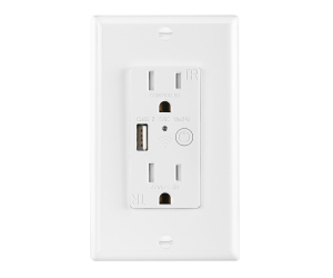Smart Wifi USB Wall Outlet socket American Standard 125V 15A Tamper Resistant 2.4A USB output