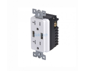 Electrical USB charger wall outlets Dual Type-A Replaceable inner core with 20A TR Receptacle