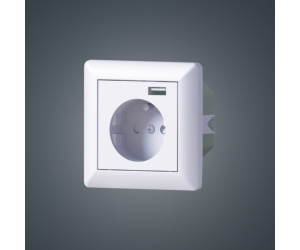 European Schuko soket Wall in AC Power French Outlets 16A 250V with 5V 2.4A USB Socket