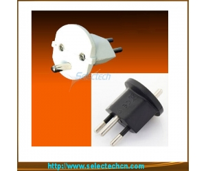 France Schuko to Earthed Swiss Converter Plug SE-ES-20