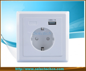 Allemagne Socket Wall Charger plaque USB USB-18