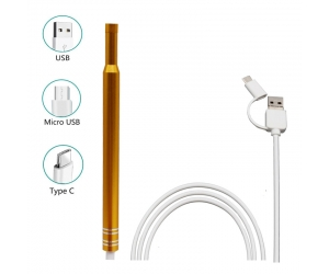 HD Visual Earpick Ear Cleaning Endoscope 3 in 1 Earwax Clean Tool 5.5MM Mini Health Care Inspection Camera