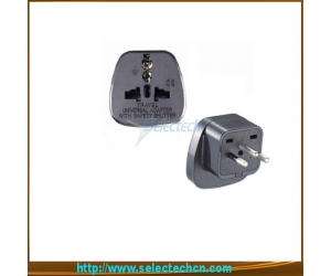 Hottest Safety France To Swiss Plug Adapter With Security Gate SES-11