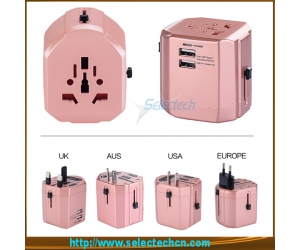 International usb charger travel adapter power plugs electrical adapters ST-620