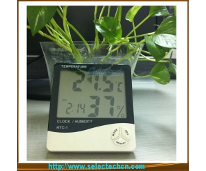 LCD display digital hygrometer thermometer indoor SE-HTC-1