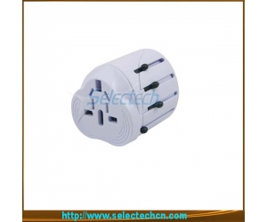 Portable World travel adapter for gift with usb port SE-MT001U