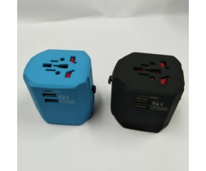 Promotional gift 2500MA Dual USB Charger Universal World Travel Adapter China Supplier