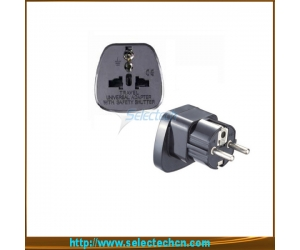 Safe Multi Adapter Series Universal To Europe Plug Adapter With Security Gate SES-9