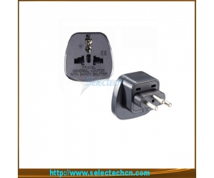 Safe Multi Swiss Travel Plug Adapter With Security Gate SES-11A