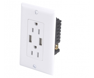 USB-30-A-A/A High Speed universal wall socket Dual USB Charger Outlet Receptacle USA electrical receptacle types