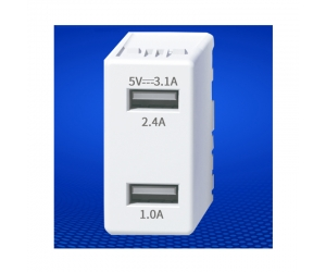 USB Charger Module 5V 3.1A USB receptacle keystone USB charger socket