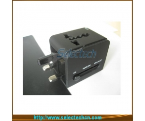 USB Charger  Word Travel Adapter For Travel With Safety Shutter And 1A Output SE-MT148U2