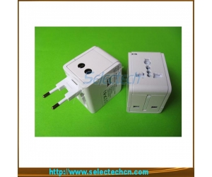 USB Charger  Word Travel Adapter For Travel With Safety Shutter And 2.1A Output SE-MT148U-2.1A
