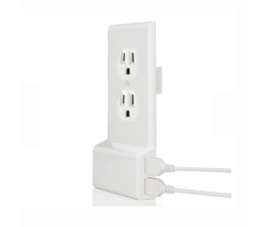 B-Land Easy Install Dual High Speed USB Charger cover/Decor/Duplex US wall plate cover