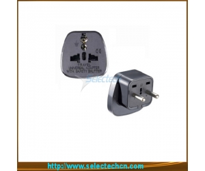 Universal To Eu Pin Travel Adaptor Plug With Safety Gate SES-9B