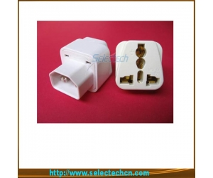 Universal To  IEC320 Travel Plug Adapter For Computer With Ground Pin SE-UA320