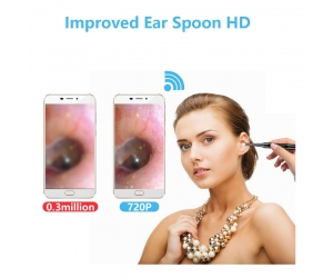 Wireless security 5.5mm ear spoon endoscope tool selection medical ear cleaning Wifi integrated otoscope