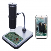 China 1000x magnification HD 2MP 1080P resolution portable adjustable wireless WIFI digital handheld microscope camera factory