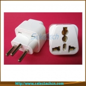 China 10A 250V 4.0mm Universal to swiss plug converter with ground pin SE-UA11A factory