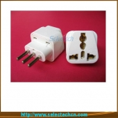 China 10A 250V Universal-USA nach Italien-Stecker-Adapter SE-UA12A-Fabrik