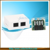 China 2 Ports RJ45-Wandhalterung Box mit IDC Cat5e-Fabrik