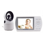 China 3.5inch LCD digital wireless video baby monitor Night Vision Baby Monitor with Temperature Monitoring factory