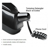China 360 degree rotation telephone cord twisstop detangler w/coiled factory