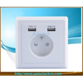 China 86 type Dual USB Wall plate Charger USB-19B factory