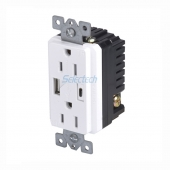 China America Canada 125V 15A electrical Outlets with USB A and Type C Charging Embedded core, USB CHARGER factory