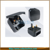 China China Shenzhen Factory Travel Adaptor Euro To UK 3 Pin 13A Plug for 2-round-pin plug SE-ECP factory