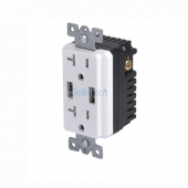 China Electrical USB charger wall outlets Dual Type-A Replaceable inner core with 20A TR Receptacle factory