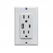 China Fast charging Type-C QC 3.0 Quick Charge USA wall outlets with USB 5V 2.1A factory