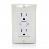 China GFCI outlet receptacle 125V 15amp electrical socket TR with protecting American GFCI Sockets (Self-Test) factory