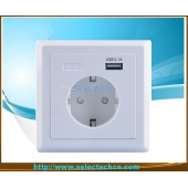 China Germany Socket  80 type USB Wall plate Charger USB-20 factory