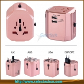 China Internationale usb lader travel adapter macht stekkers elektrische adapters ST-620 fabriek