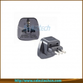 China Italië Embedded drie ronde Pin Adapter Met Security Gate Met Security Gate SES-12A fabriek