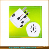 China Multi-color swiss world travel adaptor plug with ground pin SE-MT009 factory