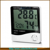 China Multifunction MiNIi LCD Temperature And Humidity Meter With Alarm Clock Calendar And Timer SE-HTC-1 factory