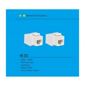 China NE-212 Cat6 Cat6A Network Keystone jack RJ45 8P8C keystone shielded coupler factory