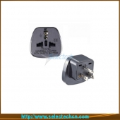 China Safe Multi Adapter Series Universal Om 3 Pin USA Plug Adapters Met Secuity Gate SES-5 fabriek