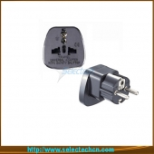 China Safe Multi Adapter Series Universal Om Europa Plug Adapter Met Security Gate SES-9 fabriek