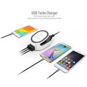 China Smart 50W QI 3 in 1 wireless fast charger with QC 3.0 Quick USB Charger factory