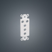China US faceplate 120 type Hexagon 5-holes white ABS Plastic insert plate board for Audio/Video factory