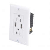 China ETL certification USB-30 High Speed universal wall socket Dual USB charging outlets Receptacle USA electrical receptacle types factory