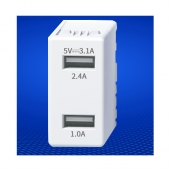 China USB Charger Module 5V 3.1A USB receptacle keystone USB charger socket factory